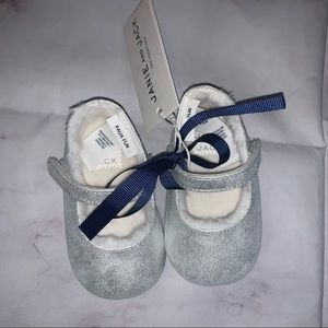 NWT Janie & Jack | Baby Metallic Crib Shoe